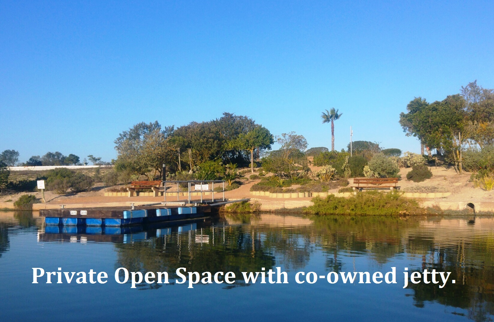 Private Open Space With Co Owned Jetty   Text